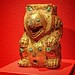 Fixture in the shape of a bear Western Han Period 206 BCE - 9 CE Gilded Bronze with inlaid turquoise