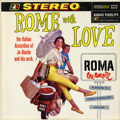 Rome With Love (Jim Ed Blanchard) Tags: lp album record vintage cover sleeve jacket vinyl easy listening lounge pretty woman girl sexy cheesecake model beautiful rome with love jo basile italy motorcyle scooter umbrella accordion wine bottle
