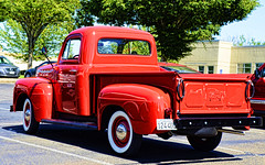 Cherry Red (creepingvinesimages) Tags: htt ford vintage pickup red colorful outdoors classic nikon d7000 pse14 topaz