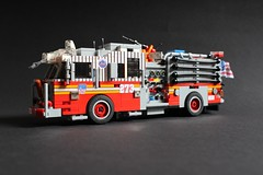 "FDNY Engine 273 ""NY Mets"" (sponki25) Tags: fdny seagrave marauder ii pumper engine company 273 fire department newyork nyc ny lego moc mets baseball flushing queens ladder 129"