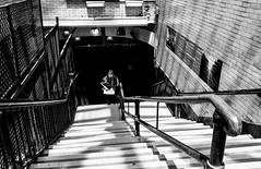 Untitled (Howard Yang Photography) Tags: bw blackandwhite leicam8 leica boston subwaystation
