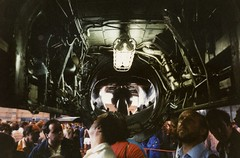 Where the Engine Should be in a Lightning (tnxphotos) Tags: binbrook airshow 1987 raf fighter lightning engine bay