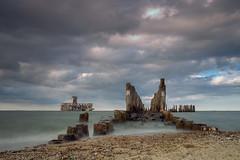 The old torpedo station, Gdynia, Poland (P.W.Kozlowska) Tags: poland sea baltic seashore history mistery water sand calmness beach