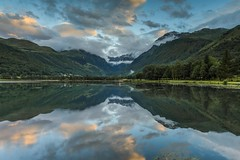 Pyrenees Sunset (James Whitlock Photography) Tags: europe france pyrenees mountains sunset lac lake genos cloud sun sky water reflection hill hike trees forest nikon d810 lee filters gitzo