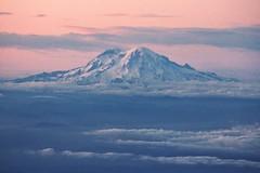 Mount Rainier (SkylerBrown) Tags: aerial cascadia clouds landscape mountrainier mountain nature oregon pacificnorthwest pretty snow sunset travel washington