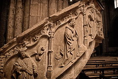 Tortosa Catedral (rossendgricasas) Tags: people travel religion church old architecture building nikon monument statue art tortosa catalonia stone sculpture cathedral ancient god landmark saint gothic noperson
