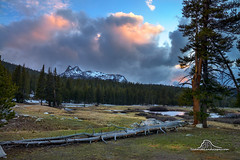 Sunset in Tuolumne (Darvin Atkeson) Tags: tuolumne meadows california yosemite national park halfdome elcapitan bridalveil forest sierra nevada mountains clouds rest valley canyon glacier darv darvin lynneal atkeson yosemitelandscapescom