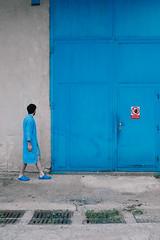 Blue Memory I (milanvopalensky) Tags: boy male man me myself self selfportrait blue color colour colours colors memory memories child childhood fence factory door industrial czech canon 5d mark ii portrait conceptual concept surreal surrealism fine art