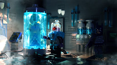 """Nora..."" (Andrew Cookston) Tags: lego dc comics batman brucewayne mister mr freeze victor fries pauldini theanimatedseries blue black darkgrey darkgray moc ice cold photoshop purist custom minifig stilllife toy lighting nikon macro photography andrewcookston"