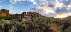 Quiet Memory of the American West (spudalicious1969) Tags: desert owyhee abandoned americanwest cabin cowboy grandview hike homestead idaho landscape littlejackscreek mountain mountains outdoor outdoors perjue perjuecanyon shooflycreek sunset west western