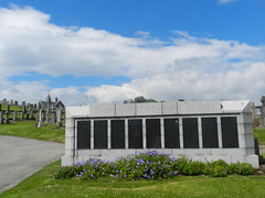 Commonwealth War Grave Panels, Trinity Cemetrery, Aberdeen, July 2017 (allanmaciver) Tags: trinity cemetery granite silver block names soldier rank age regiment remember service sacrifice stand humble lestweforget