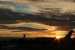 Fairford sunset. (aitch tee) Tags: settingsun landscape friday14072017 royalinternationalairtattoo raffairford riat2017 evening sunset clouds skyline englanduk