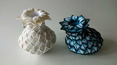 Bud vases lace & m (JenLawsonUK) Tags: polymer clay bud vases cane slices
