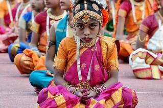 Kuchipudi Guinness Dance -Hyderabad 2014 (10)