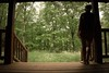 The Porch (joshheese) Tags: outdoors green porch cabin woods virginia nature gaze ponder silhouette girl