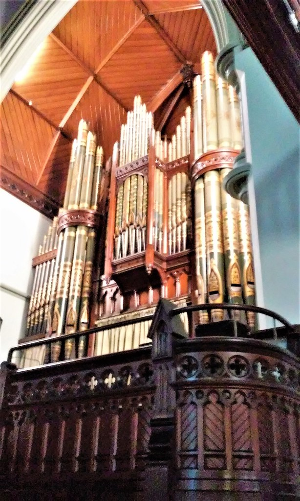 Brisbane.  The first Wesleyan church was built in Brisbane in 1849. The first in Albert Street was built in 1856 and this replacement church was built in 1889. This George Benson  organ from Manchester was also installed in 1889