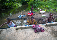 Woman and kids doing laundry in river, Shefa Province, Efate island, Vanuatu (Eric Lafforgue) Tags: a0009983 adult boys child colourimage community day family fourpeople fulllength girls horizontal hygiene laundry lifestyles melanesia mother newhebrides nivanuatu nonurbanscene oceania oneparent outdoors pacificislands people photography primaryagechild river southpacific tourism traveldestinations tribal tribe vanuatu washing working efateisland shefaprovince vut