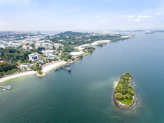 Aerial of Beaches in Sentosa