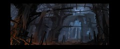 Locations CA - Dungeon (ArchonArt) Tags: art 2dart conceptart illustration environment digitalart landscape scenery 2d 2dartworks dungeon fireandice sketchy thumbnail