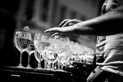 Playing the glass harmonica (AlphaAndi) Tags: mono monochrome city urban trier tiefenschärfe music musik sony streets streetshots zeiss fullframe vollformat closeup leute people personen