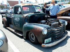 1949 Chevy 3800 (splattergraphics) Tags: 1949 chevy 3800 pickup truck slammed ratrod custom patina carshow cruisinoceancity oceancitymd