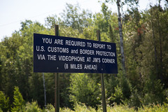 Report to U.S. Customs and Border Protection - Northwest Angle, Minnesota (Tony Webster) Tags: american cbp canada canadian customsandborderprotection jimscorner minnesota northwestangle uscustoms unitedstates border bordercrossing borderprotection northernborder videophone buffalopoint us