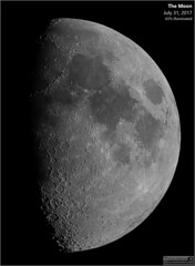 Waxing Gibbous Moon - July 31, 2017 (Tom Wildoner) Tags: tomwildoner leisurelyscientistcom leisurelyscientist moon lunar crater waxinggibbous waxing gibbous solarsystem astronomy astrophotography astronomer meade telescope canon canon6d backyardeos video stacking science space nightsky night