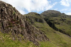 Great End (Cumberland Patriot) Tags: styhead tarn water valley vale cumbria cumbrian view walk monks trod foot path footpath great end the band fell mountain hill peak scree rock rocks rocky english lake district national park verdant landscape