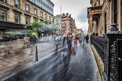 Buchanan Street (ianmiddleton1) Tags: blur motion people rushhour buchananstreet
