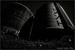 UBE... (SHADOWY HEAVEN) Tags: 1608240088 日本 北海道 苫小牧 モノクロ モノクロ写真 白黒写真 ファインダー越しの私の世界 写真好きな人と繋がりたい 写真撮ってる人と繋がりたい 写真の奏でる私の世界 セメント タンク coregraphy japan hokkaido monochrome mono monotone blackandwhite bw bnw blackwhite noiretblanc japaninbw dark cement tank