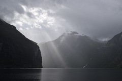 Sun and rain in Geiranger Fjord (morston_max) Tags: clouds weather cloud light fjord norway geiranger