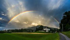 Patscherkofel with rainbow (Iglerin) Tags: sun summer rainbow tirol alps mountains tyrol irix1524 berg patscherkofel rain innsbruck regenbogen