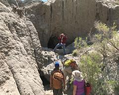 025 Bob Takes A Picture (saschmitz_earthlink_net) Tags: 2017 newmexico sanjuancounty angelpeakscenicarea kutzcanyon badlands mudstone cave entrance cathedralcave