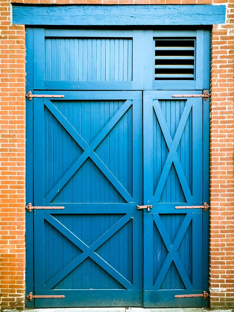 Door #926 (ep_jhu) Tags: Brooklyn Nyc Blue Colorful Barn Ny Newyorkcity  Iphone
