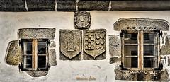 Family shields (mercedescasal) Tags: piedra escudos shields arquitectura galicia