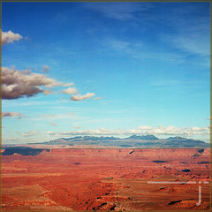 canyonlands (jaarockin) Tags: canyonlandsnationalpark canyonlands southwest southeasternut mountain desert clouds bluesky redsandstone landscape film 120film kodak summer jaarockin light shadows naturallight texture