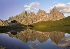 Baita segantini (andrea_90mela) Tags: montagna tramonto baita segantini meditation trentino alpi dolomiti italia sunset italy water lake landscape paesaggio panorama 2200