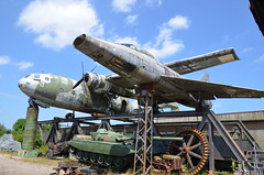 North American F-100 Super Sabre + Nord 2501 Noratlas (Andy_BB) Tags: auto museum jet abandoned grounded nord 2501 noratlas northamericanf100supersabre