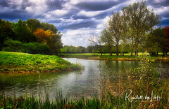 A Pond Before The Storm (myoldpostcards) Tags: landscape pond water reflection stormy sky atmosphere arboretum universityofillinois ui uiuc urbanachampaign champaigncounty centralillinois illinois il myoldpostcards randall randy vonliski season spring color apondbeforethestorm canon eos 7dmarkii