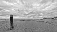 Sunday morning beach (robvanderwaal) Tags: dunes netherlands 2017 wolk bw duin landscape nederland pole zwartwit sea zee clouds monochrome paal robvanderwaalphotographycom beach blackwhite landschap zw cloud duinen dune blackandwhite rvdwaal strand wolken mono