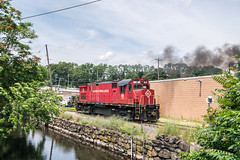 Back to Base (Nick Gagliardi) Tags: train trains railroad morristown erie me dover rockaway chester high bridge branch branches final day operations alco diesel american locomotive company c424