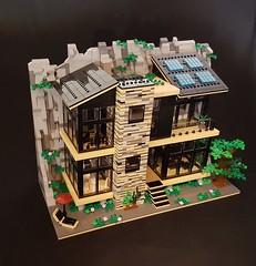Green Rock House MOC exterior V (betweenbrickwalls) Tags: lego legomoc moc legohouse modernarchitecture architecture legoarchitecture