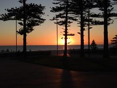 Setting sun at Glenelg (Lesley A Butler) Tags: sa glenelg autumn australia adelaide