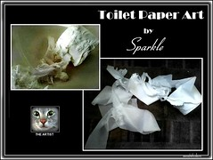 ORIGINAL SCULPTURE (Ann Frye) Tags: sparkle cat moonwhiskers catsbymoonwhiskers mischief toiletpaper