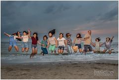 Jumpin Outdoors (BobGeilings.nl) Tags: jumpinoutdoors beach blue clouds fun jumping motion sand see water