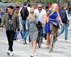 Stockholm street (bokage) Tags: sweden stockholm bokage street pedestrian bicyclist
