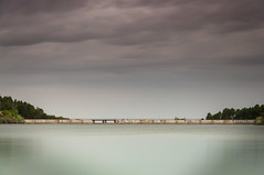 Puente Alta Dam (just_lightshots) Tags: dam morning outdoors clouds nature civilengineering landscape sky reservoir lake water stillwater colorful
