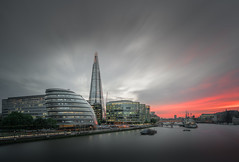 Coral (Explored) (Photo Lab by Ross Farnham) Tags: london thames sunset lee filters big stopper long exposure le city hall sony a7rii