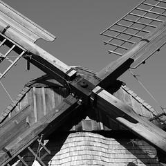 Mill 1 (fsc9090) Tags: mill mühle windrad sw schwarzweis schwarzweiss sky bw blackandwhite blackwhite bielefeld monochrome monochrom fujifilmxt2 fujifilm fuji 1x1 square 5x5 contrast kontrast