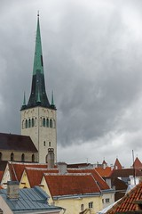 Rooftops (explored) (Edwin Verhulst) Tags: centre historical city rain cloudy cloud rooftops roofs estonia tallinn